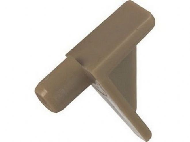 NEW BEIGE SHELF SUPPORT PLUG IN STUDS 6mm HOLE 20 pack C051
